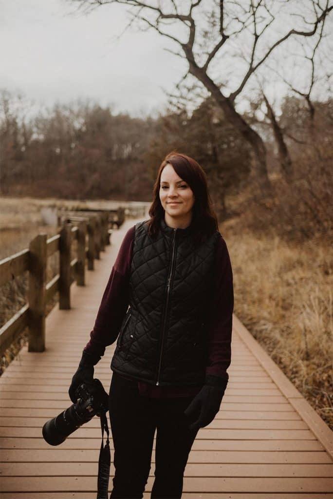 Maria Overlay standing on a walkway